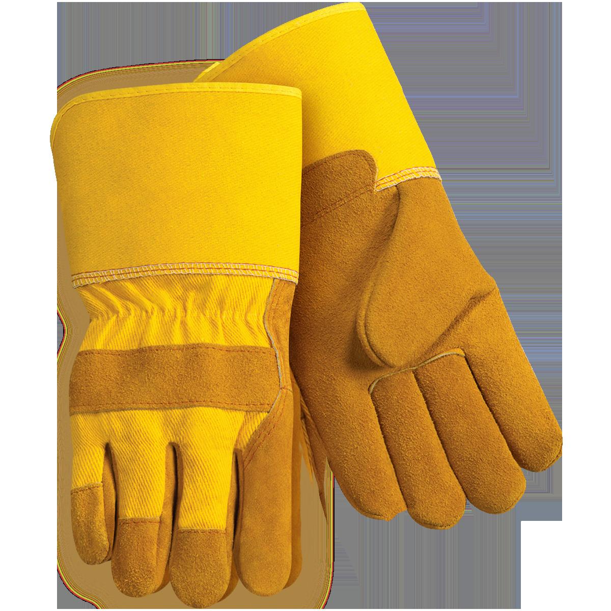 Leather work gloves best - Premium Split Cowhide Leather Palm Work Gloves Long Cuff