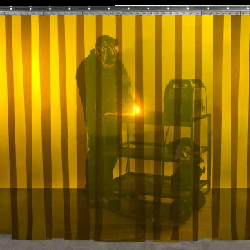/ Steiner Tinted Transparent Vinyl Strip Curtain