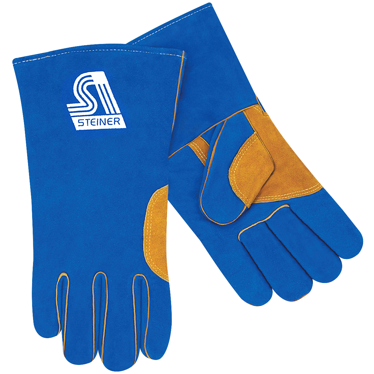 Green Natural Thumb Premium Split Cowhide Triple Lined Steiner 023NT-L Welding Gloves Large