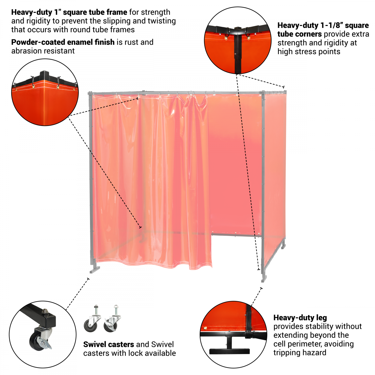 Welding Curtain Diagram Of Design House Wiring Symbols Mig Welder Gun Protect O Screen Hd Booth Steiner Industries Rh Steinerindustries Com Table Dc