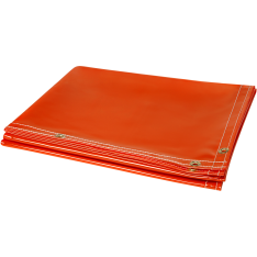 Steiner Arc View Transparent Vinyl Welding Curtain Roll Orange 348
