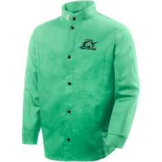"9 oz FR Cotton Welding Jacket - 30"" Green"