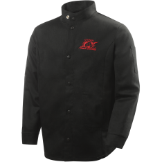 "9 oz FR Cotton Welding Jacket - 30"" Black"